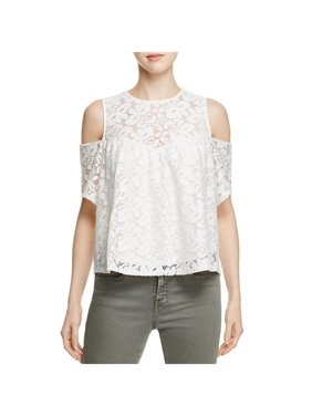 2398856cf38b4a Product Image Alison Andrews Womens Lace Short Sleeves Blouse