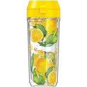 Thermos TP4108LM6 18-Ounce Patina Vie Double-Wall Hydration Bottle (Citrus)