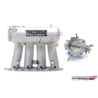 SKUNK2 Intake Manifold Silver Throttle Body Alpha 70mm Prelude H-Series Manifold 307-05-0300, 309-05-1050