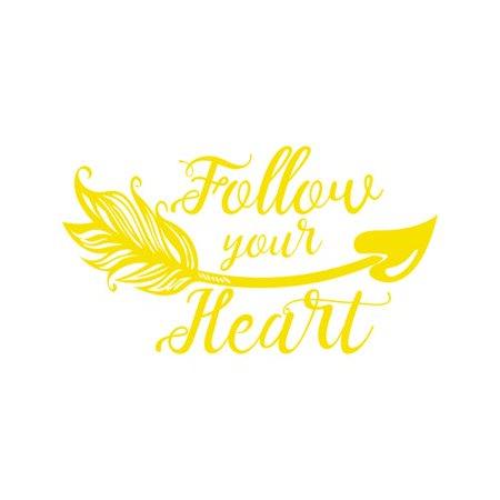 Decal House Follow Your Heart Wall Vinyl Boho Arrow Nursery Quotes