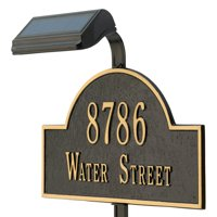 Whitehall Solar Lawn Mounted Lamp with Extender