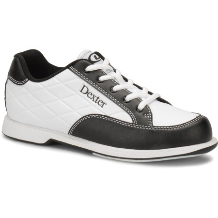 Dexter Womens Groove III Bowling Shoes Wide Width- White/Black 7 1/2 W US