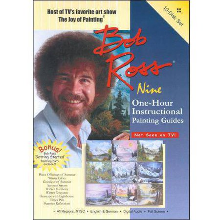 Bob Ross  The Joy Of Painting   Nine One Hour Instructional Painting Guides  Full Frame