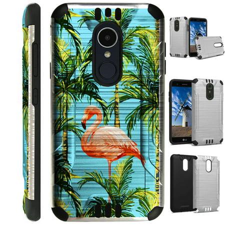 - Silver Guard Phone Case Cover For LG K10 (2018) | K10 Plus | K30 (X410) | K10 Alpha (Flamingo Tree)