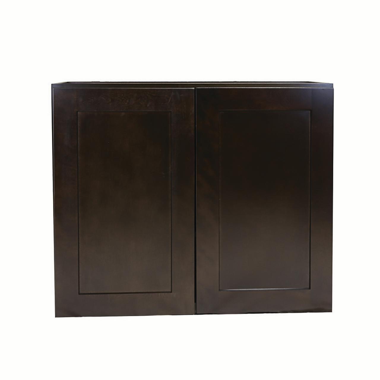 Design House 562355 Brookings Unassembled Shaker Tall Wall Kitchen Cabinet 36x30x12, Espresso