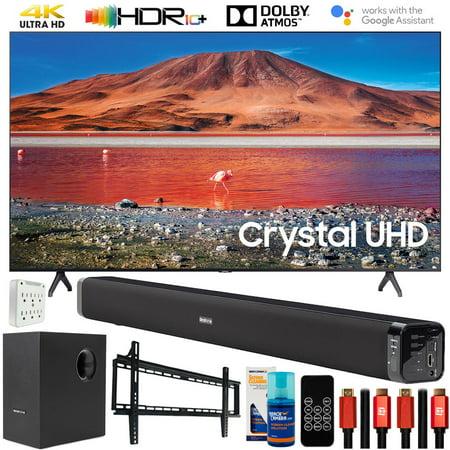 "Samsung UN43TU7000 43"" 4K Ultra HD LED TV (2020) with Deco Gear Home Theater Bundle"