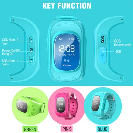 Anti-lost Smart Watch GPS Tracker SOS Call GSM SIM Gifts For Child Kids - image 8 of 11