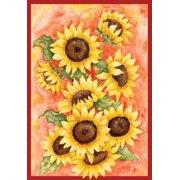 "Radiant Sunflowers Summer House Flag Floral Bouquet 28"" x 40"""