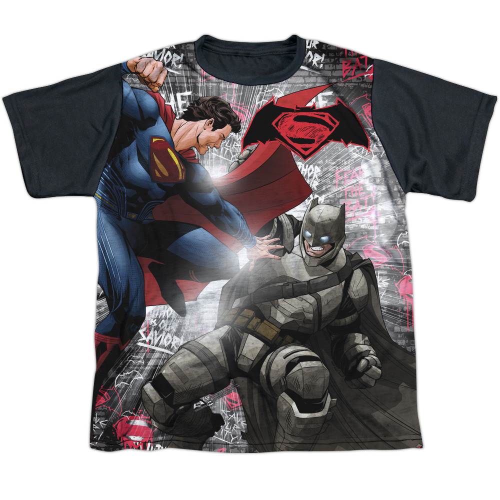 Batman Vs Superman Showdown Big Boys Sublimation Shirt