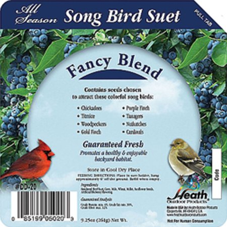 Heath Mfg Co P-Song Bird Suet Cake- Fancy Blend 9.25 Ounce (Case of 16 ) Berry Blend Suet Cake