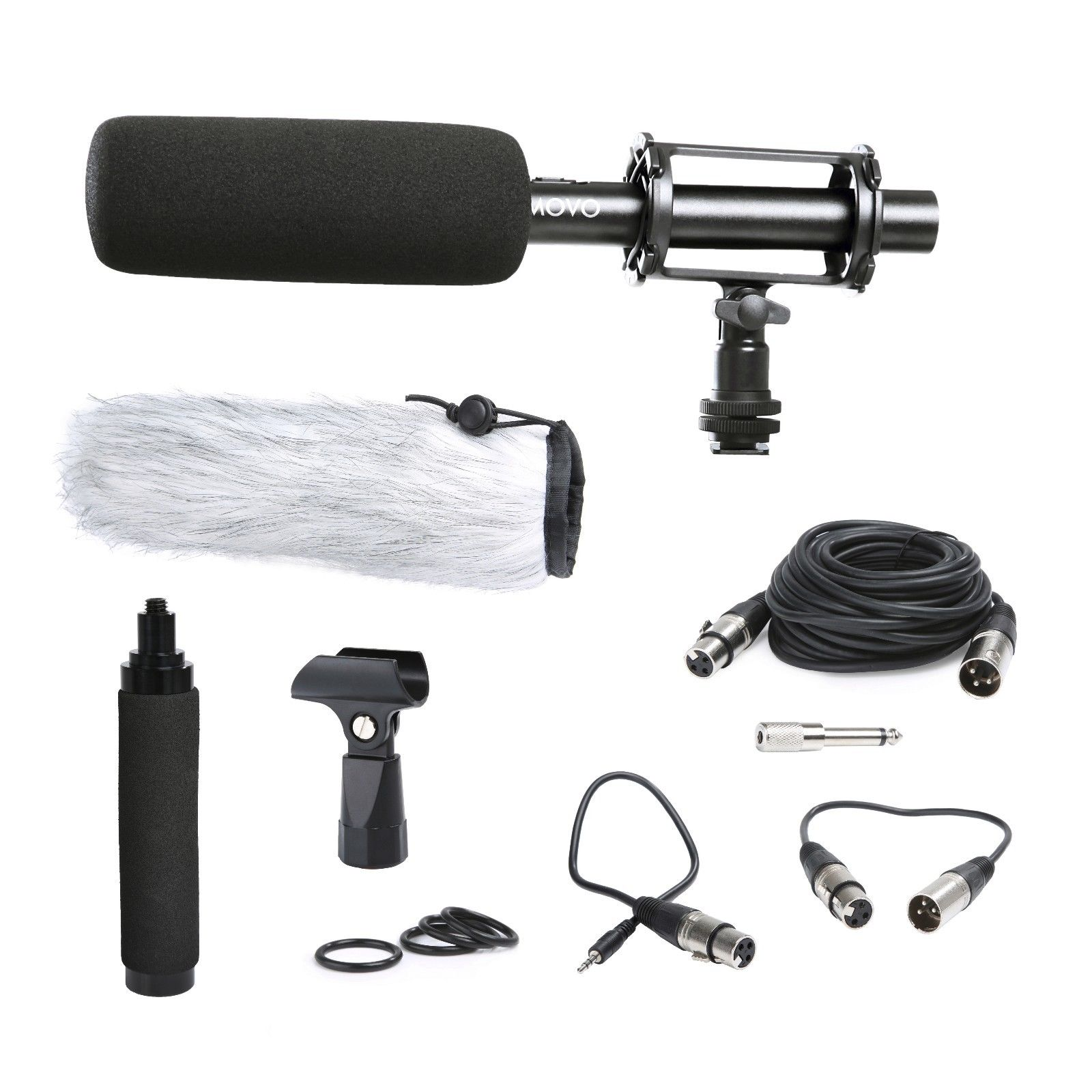 "Movo Photo VXR100L Professional 15"" Supercardioid Condensor Shotgun Video Microphone Kit for DSLR Cameras and Camcorders"