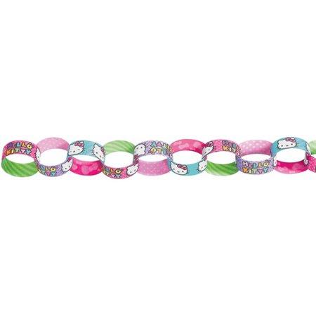 Hello Kitty Rainbow Paper Chain Garland