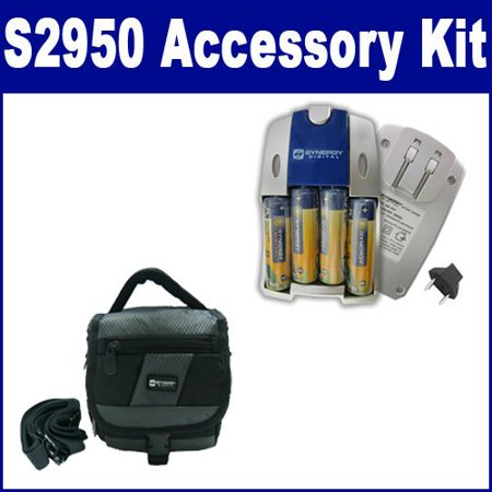 Finepix Z33wp Accessory Kit (Fujifilm Finepix S2950 Digital Camera Accessory Kit includes: SDC-27 Case, SB257)