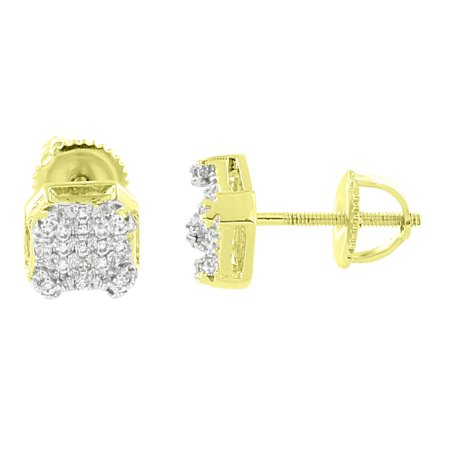 Braid Designer Earrings - Designer Earrings 14k Gold Finish Iced Out Lab Created Cubic Zirconias Screw Back Brand New Studs