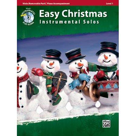 Easy Christmas Instrumental Solos, Viola (Removable Part)/Piano Accompaniment, Level 1 : Piano Accompaniment ()
