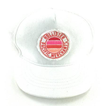 Hollister Womens Baseball Cap One Size White ()