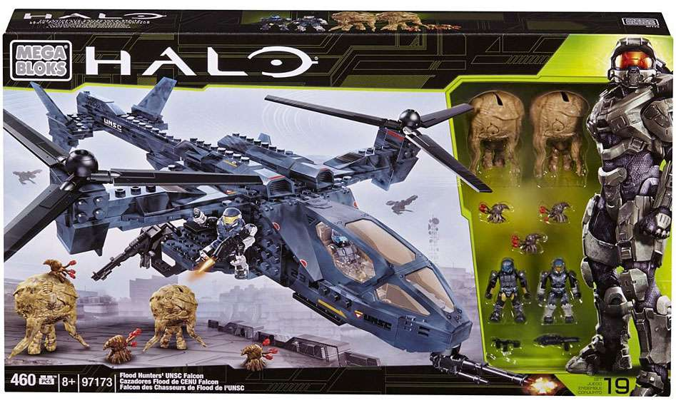 Halo Flood Hunter's UNSC Falcon Set Mega Bloks 97173 by