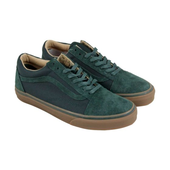 d64aac04b53c12 VANS - Old Skool Reissue Coated Green Gables   Medium Gum Ankle-High  Skateboarding Shoe - 6.5M 5M - Walmart.com