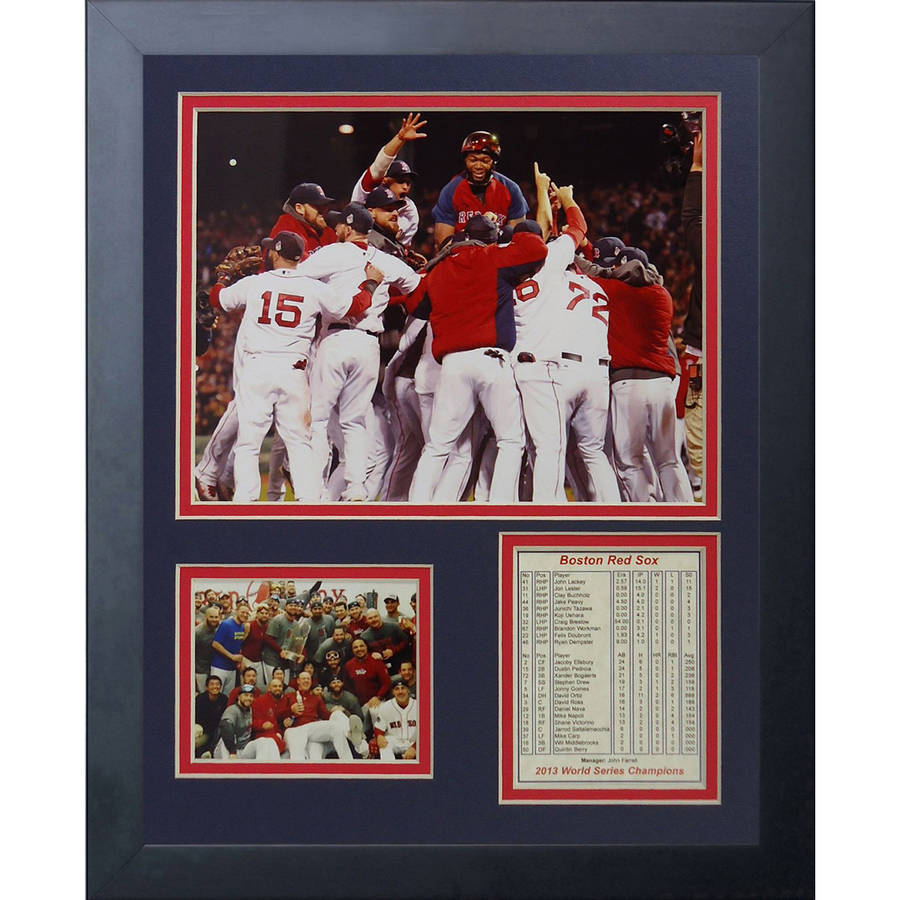 2013 Boston Red Sox World Series Champions Huddle Framed Photo Collage, 11x14, by Legends Never Die
