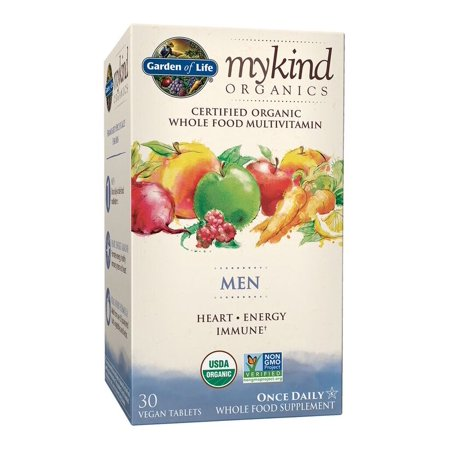 Garden of Life Mykind Organics Men One A Day Multivitamin Tablets, 30 (Best Organic Whole Food Multivitamin)
