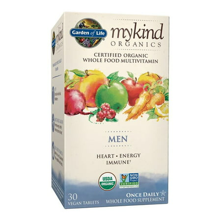 Garden of Life Mykind Organics Men One A Day Multivitamin Tablets, 30 Ct ()