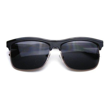 e010d2bab Emblem Eyewear - Retro Semi Rimless Modern Dapper Square Half Frame  Sunglasses - image 4 of ...
