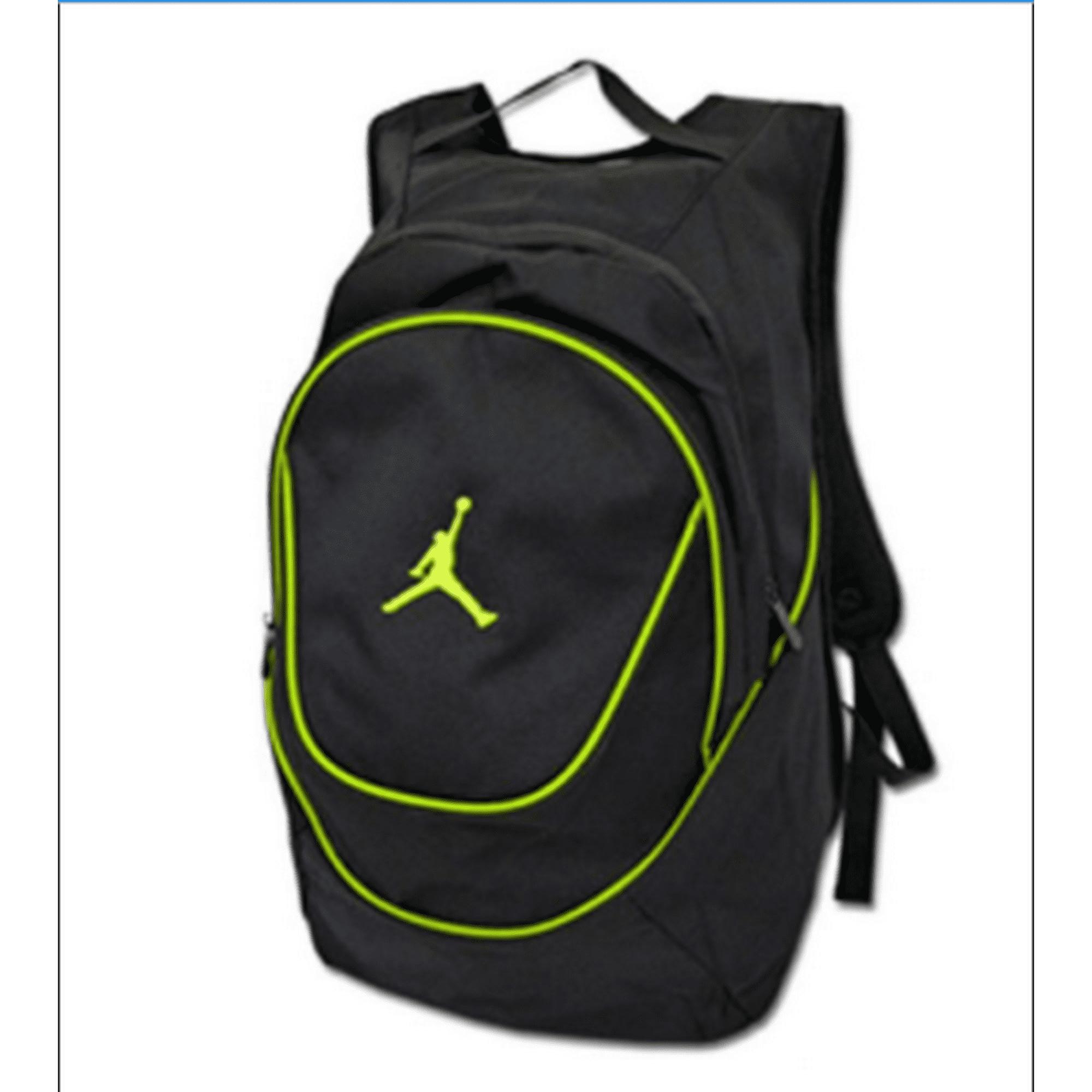bd6b932622e210 Buy Nike Jordan Air Jumpman Backpack Book Bag-Black-Green