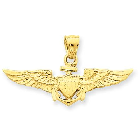 14K Yellow Gold Large US Naval Aviator Badge Pendant - image 2 de 2