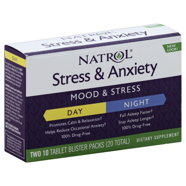 Natrol Natrol  Stress & Anxiety, 2 ea