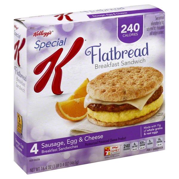 Kelloggs Special K  Breakfast Sandwiches, 4 ea