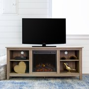 """Walker Edison Traditional Fireplace TV Stand for TVs up to 64"""",  Driftwood"""