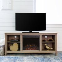 "Walker Edison Traditional Fireplace TV Stand for TV's up to 64"" - Multiple Finishes"