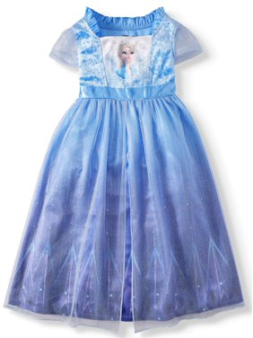 Frozen 2 Elsa Toddler Girl Short Sleeve Fantasy Nightgown Pajamas