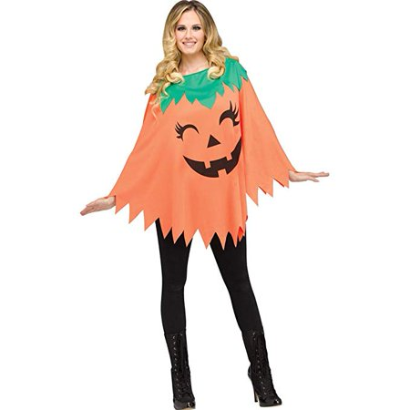 Fun World Pumkin Poncho Adult Costume