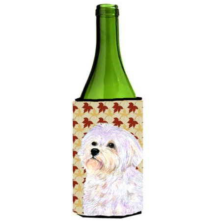 Maltese Fall Leaves Portrait Wine bottle sleeve Hugger - image 1 de 1