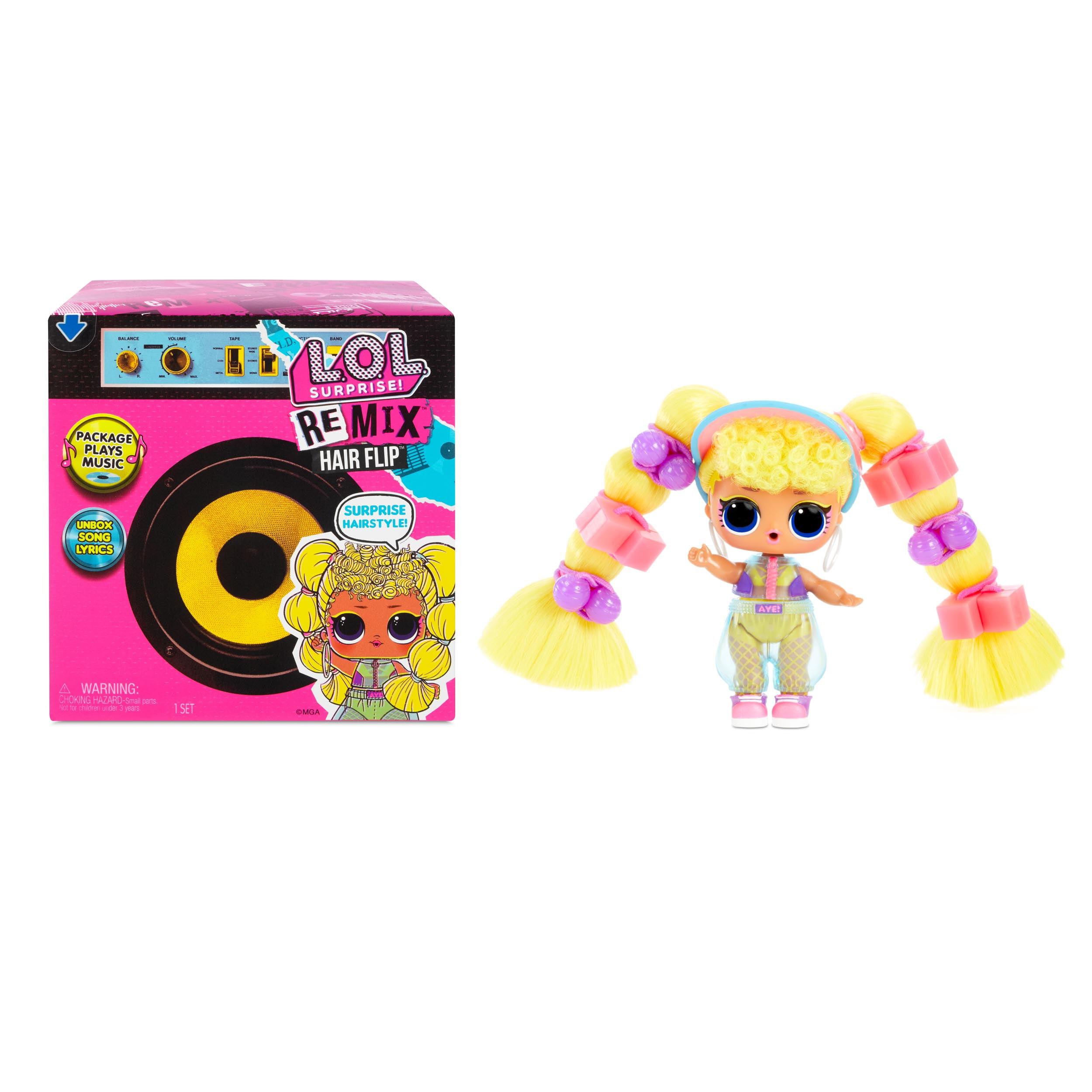 L.O.L Surprise! L.O.L. Surprise! Remix Hair Flip Dolls – 15 Surprises with Hair Reveal & Music