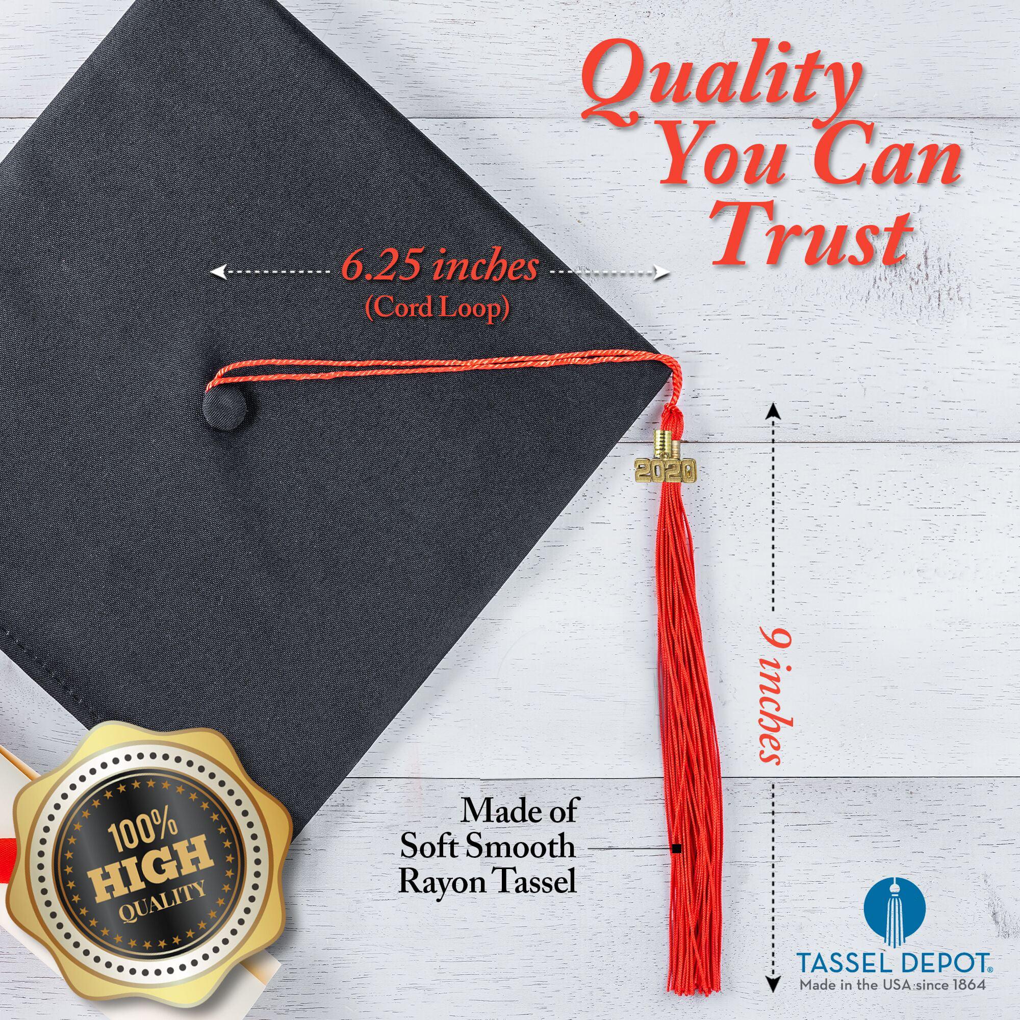 MAQUE 2020 Graduation Tassel Handmade Silk Graduation Tassel with 2020 Year Charm Grad Days for Unisex Graduates Academic Graduation Tassel 9 Graduation Cap Tassel