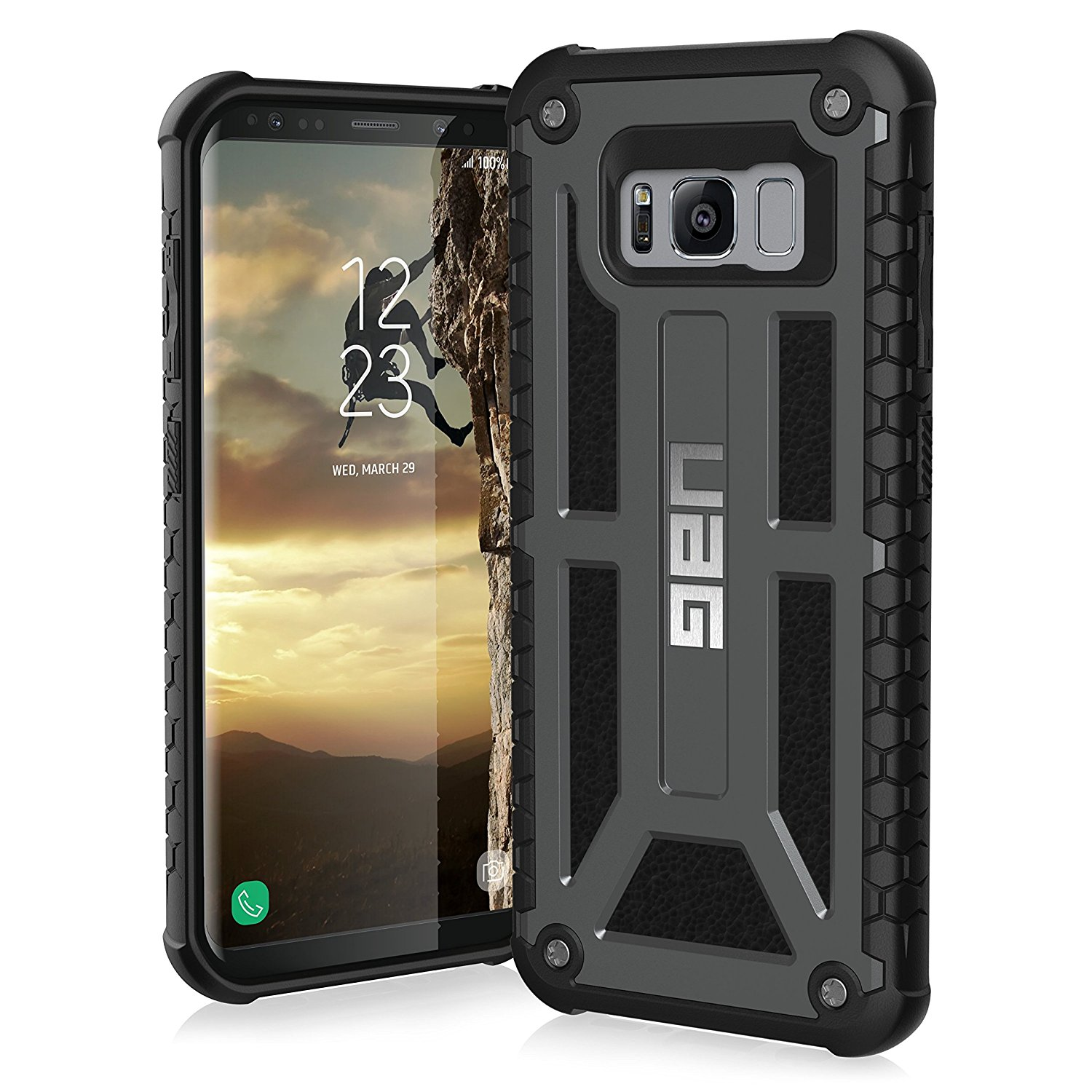 new product cf090 467f4 UAG Samsung Galaxy S8 [5.8-inch screen] Monarch Feather-Light Rugged  [GRAPHITE] Military Drop Tested Phone Case