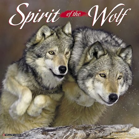 Willow Creek Press 2018 Spirit Of The Wolf Wall Calendar