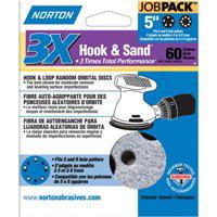 """60 Grit Norton 74368 3X Hook /& Loop Sand Disc 5/"""""""