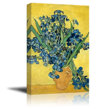 Irises by Vincent Van Gogh - Canvas Print Wall Art Famous Painting Reproduction - 24
