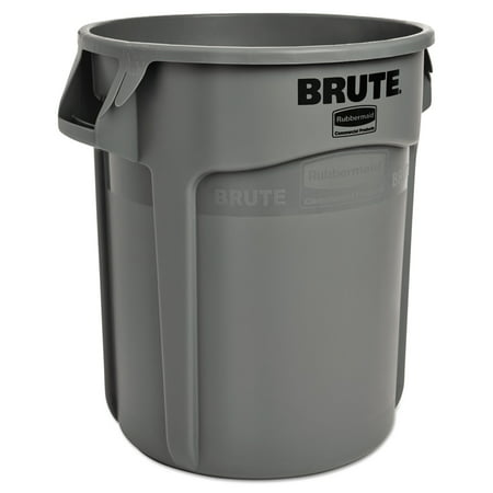 Gallon Brute Round Container Lid - Rubbermaid Commercial Round Brute Container, Plastic, 10 gal, Gray