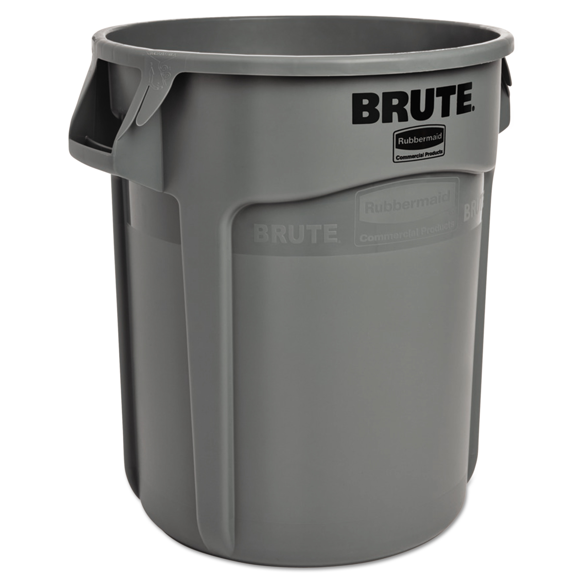 Rubbermaid Commercial Round Brute Container, Plastic, 10 gal, Gray