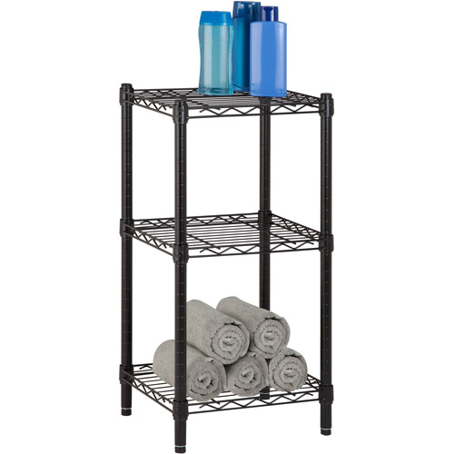 Honey-Can-Do 3-Tier Storage Rack, Wire Shelving Unit, Black