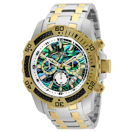 Rainbow Aura Quartz - Invicta 25093 Pro Diver 51mm Quartz Chrono Rainbow Dial SS Two-Tone Men's Watch