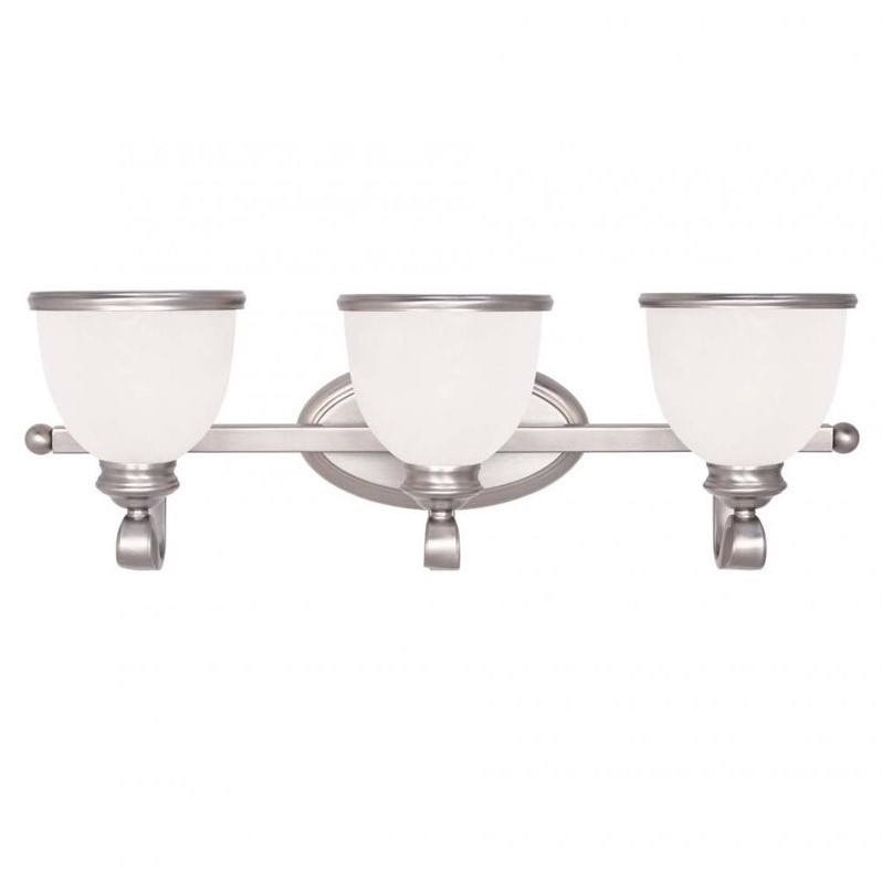 Savoy House Willoughby 3 Light Bath Bar in Pewter