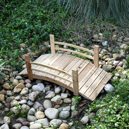Bridge End Garden (Shine Company 5 Ft. Cedar Garden Bridge - Natural)