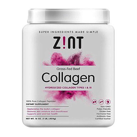 Zint Paleo-Friendly Beauty Elements Collagen Peptides Powder, 1.0 Lb