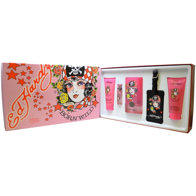 Ed Hardy  Born Wild Women's 5-piece Fragrance Gift Set