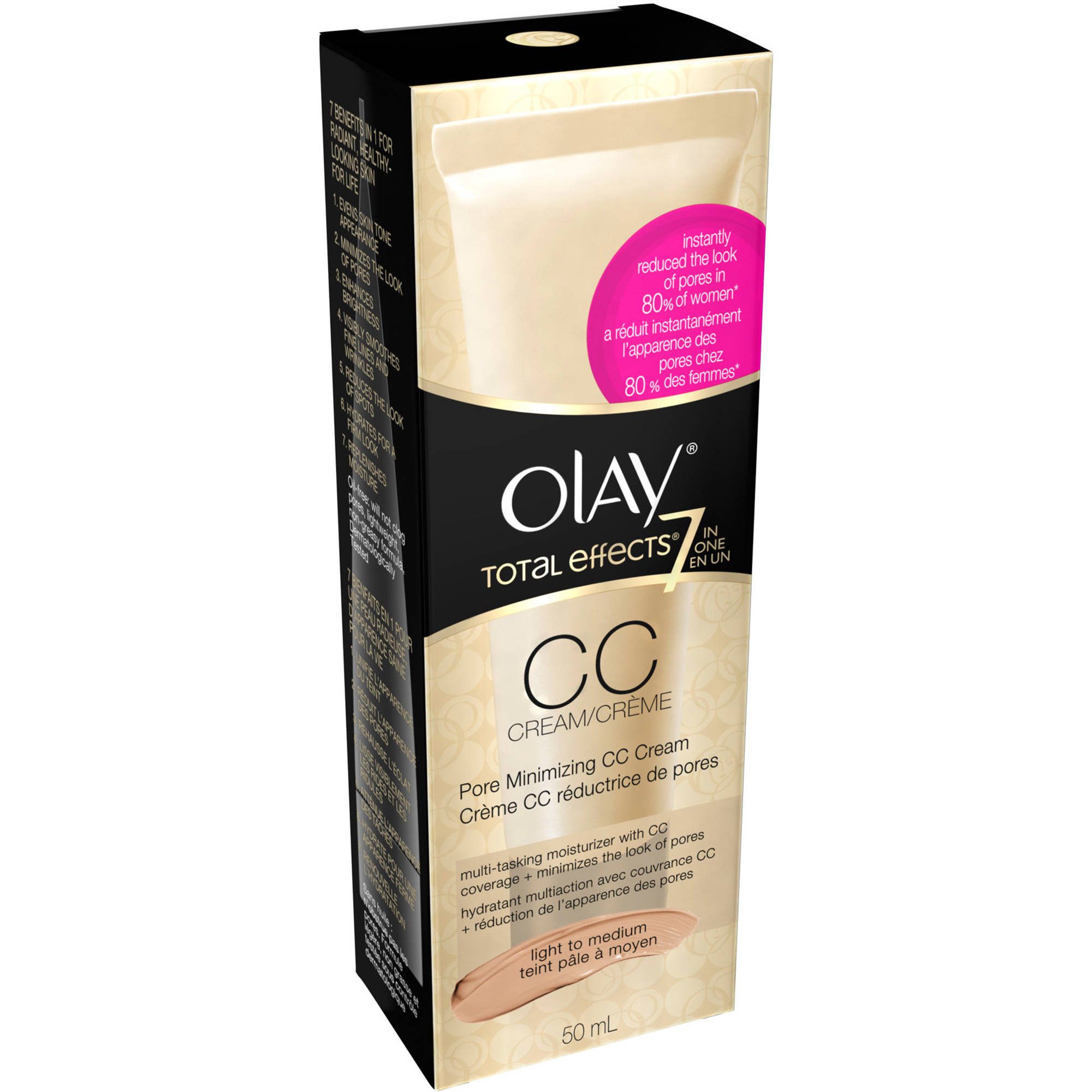Olay Total Effects Pore Minimizing CC Cream, Light to Medium, 1.7 fl oz